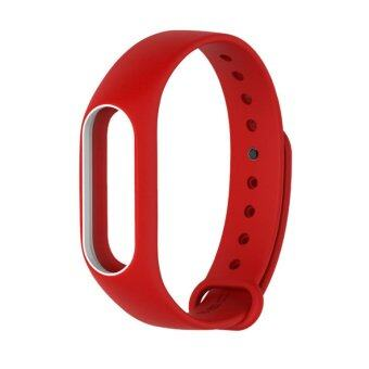Xiaomi Wristband Strap for Xiaomi Mi Band 2 สายรัดข้อมือ (White Red)