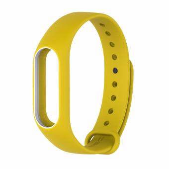 Xiaomi สายรัดข้อมือ Wristband Strap for Xiaomi Mi Band 2 (Yellow White)