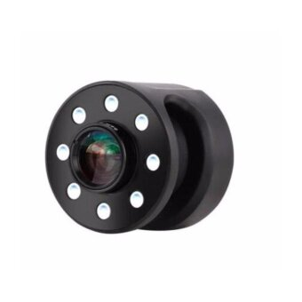 XJ-08 CLIP-ON 0.65X WIDE ANGLE FISH EYES LENS SELFIE FILL LIGHT 8 LED BULBS FOR IPHONE SAMSUNG (BLACK)