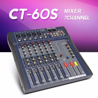 Xtuga CT60S-USB 6 Channel Digtal Mic Line Audio Mixing MixerConsole with 48V Phantom Power for Recording DJ Stage Karaoke MusicAppreciation - intl