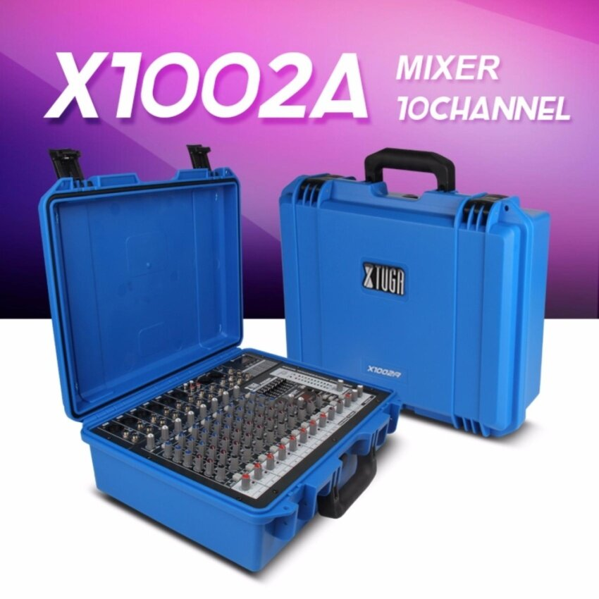 Xtuga X1002A Portable Case Audio Mixer w/ Bluetooth & USB 10 Channel power amplifier 300W*2 8ohm Multi-function professsional sound console - intl