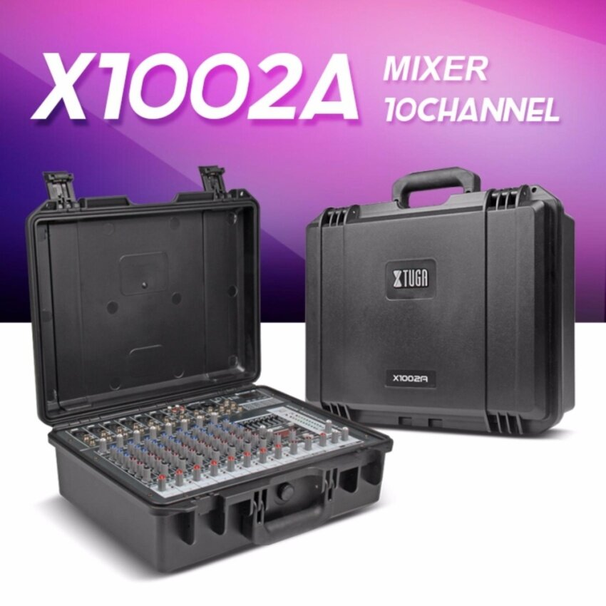 Xtuga X1002A Portable Case Audio Mixer w/ Bluetooth & USB 10 Channel power amplifier 300W2 8ohm Multi-function professsional sound console - intl