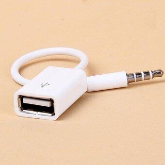 YBC Cars 3.5mm Male AUX Audio Plug Jack To USB 2.0 Female ConverterCable Car MP3 - intl