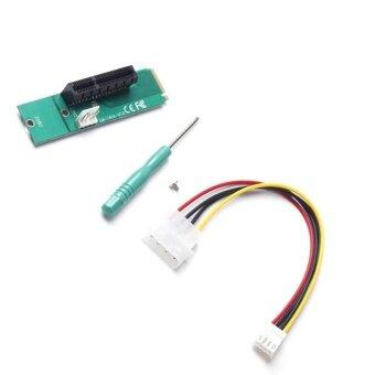 YBC NGFF M2 to PCI-e 4x Slot Riser Card M Key SSD Port to PCI Adapter Convertor for Mining - intl