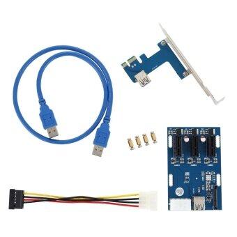 YBC PCI-E 1X ชุดอุปกรณ์เครื่องมือขยายพอร์ตจาก 1 เป็น 3 พอร์ต