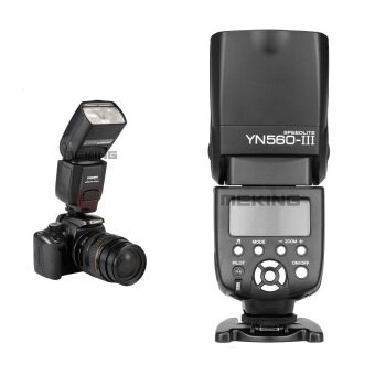 Yongnuo YN560 III Flash Speedlight for Canon Nikon Pentax Olympus Fit RF-602/603 - intl