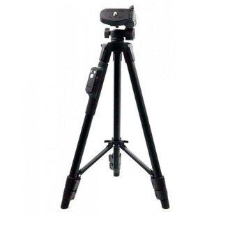 Yunteng 5208 ขาตั้งกล้อง 3 ขา ขาตั้งมือถือ พร้อมรีโมท ฟรี บัตรตั้งโทรศัพท์(Black) (image 1)
