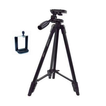 YUNTENG YT520 VCT520 ขาตั้งกล้อง ขาตั้งมือถือ 3 ขา (Black)ฟรีหัวต่อสำหรับมือถือ+บัตรตั้งโทรศัพท์ (image 1)