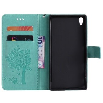 Zoeirc Fashion Tree Protective Stand Wallet Purse Credit Card IDHolders Magnetic Flip Folio .