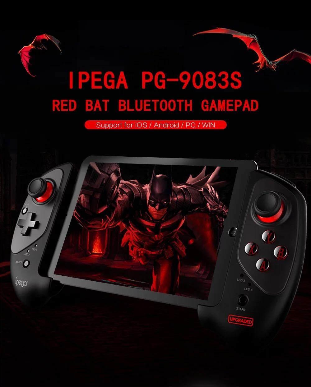 (PUBGได้ IOS, Andriod) IPEGA 9083S (Upgraded) จอยเกมส์มือถือ,  จอยบลูทูธไร้สาย สำหรับ Tablet มือถือ 5-10 นิ้ว  เกมส์คอนโทรลเลอร์บลูทูธไร้สาย รุ่นล่าสุด