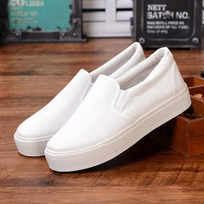 ❄️พร้อมส่ง❄️รองเท้าสลิปออน รองเท้าผู้หญิง รองเท้าผ้าใบ สไตล์เกาหลี แฟชั่นใหม่ ใส่ได้ทุกโอกาส [มีบริการเก็บเงินปลายทาง]women shoes(39 บาทสำหรับเชือกผูก)รองเท้าผ้าใบผช