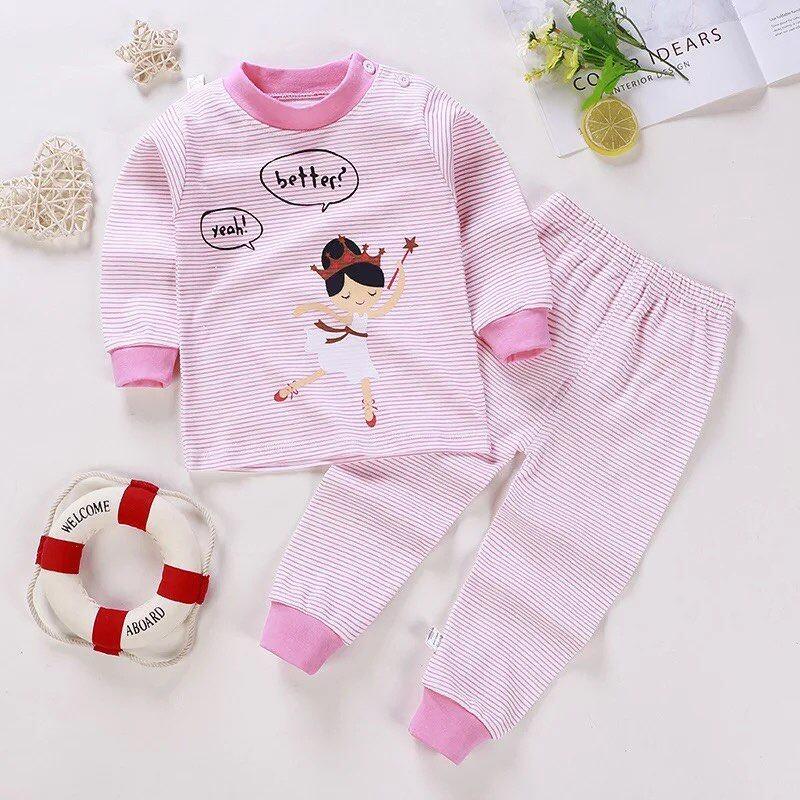 ไซส์ 50/73 (แรกเกิด-6เดือน) ชุดนอนเด็ก ชุดเด็กแรกเกิด