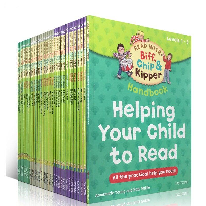 ต้นไม้อ่านออกซ์ฟอร์ด 1 ชุด 33 เล่ม 1-3 ระดับ Biff, Chip & Kipper hand English Phonics story หนังสือภาพหนังสือเด็กการศึกษา