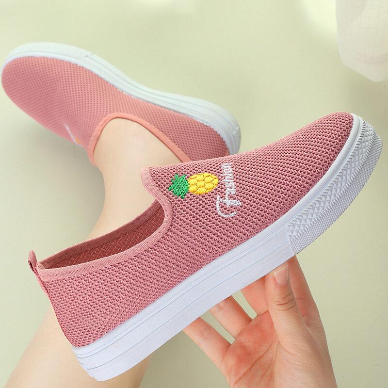 ส่งเร็ว?รองเท้าผ้า รองเท้าผู้หญิง สลิป-ออน รองเท้าแฟชั่น ยืดหยุ่นได้ดี รองเท้าเป็นทรงดี นำเข้า รองเท้ากีฬา B-052