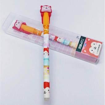 ปากกาเจลลบได้ สัตว์น้อยน่ารัก ในกล่อง หมึกสีน้ำเงิน ขนาด 0.5 มม. 1 ด้าม