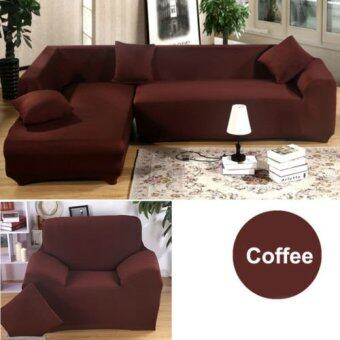 Harga 1 2 3 4 Seater L Shape Loveseat Chair Stretch Sofa Couch ProtectCover Slipcover Coffee