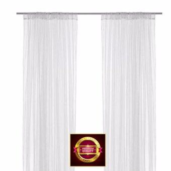 มุ้งผ้าม่านผ้าม่านโปร่ง 1 คู่ สีขาว 280x250 ซม.