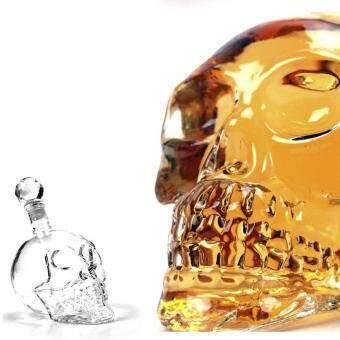 1000ml Decanter Crystal Skull Head glass Vodka Whisky