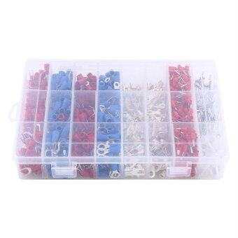 1000pcs 24Types Insulated Crimp Terminals Electrical Cable Wire Connectors Assorted - intl