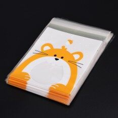 100PCS Cute Animals Candy Cake Packaging Bags Self-adhesive Gifts Bags Party Mouse 10cm*10cm+3cm - intl