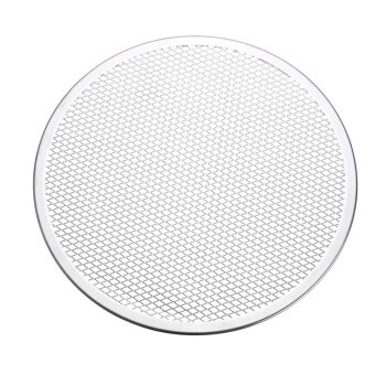 10pcs Seamless Rim Aluminium Mesh Pizza Screen Baking Tray Net Bakeware Cooking Tool 12'' - intl