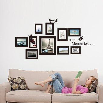 Harga 10x Picture Photo Frame Wall Black Wedding Frames Sticker VinylDecal DIY Gift