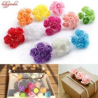 Harga 144pcs PE Foam Rose Flower Artificial Mini Wedding WreathScrapbooking Flowers 3.5cm Diy Handmade Rose Candy Box Accessories- intl