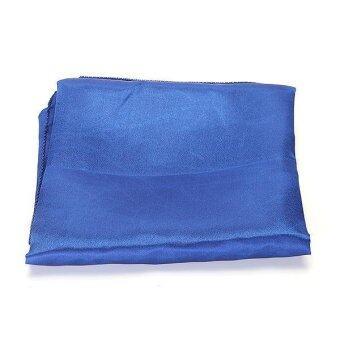 ผ้าคลุมปูโต๊ะสีน้ำเงินสำหรับงานเลี้ยง ขนาด 145 x 145 ซม. - 4