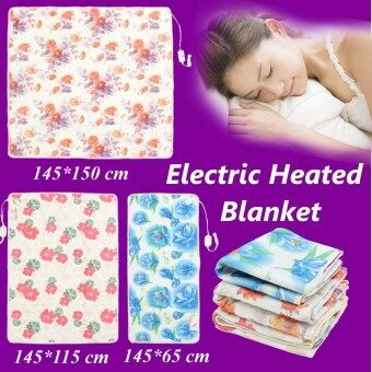 145*150cm Electric Heated Blanket Polyester Floral Printed Bedroom Blankets - intl