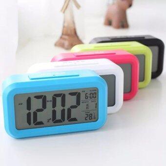 1688 thailand นาฬิกาปลุกตั้งโต๊ะ นาฬิกาปลุกเรื่องแสง นาฬิกาปลุกสีขาว - 2