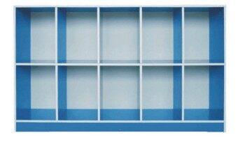 17Home ชั้นโชว์ ตู้ล็อคเกอร์ แนวนอน รุ่น S-10 - สีฟ้า ...