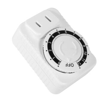 1Pc 12 Hour Electrical Mechanical Time Wall Plug Switch DigitalCountdown Timer Socket Hot - intl