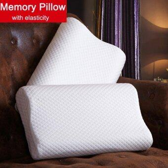 1Pcs 50x30cm Slow Rebound Cotton Bed Memory Pillow Neck Head Support Cushion - intl