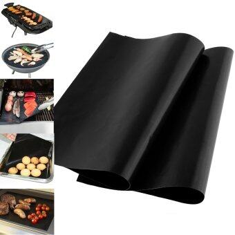 1pcs Reusable Non-stick Surface BBQ Grill Mat Sheet Portable EasyClean OutDoor - intl
