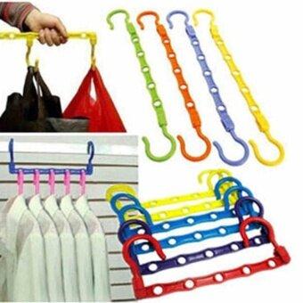 1x Space Saver Wonder Magic Clothes Hanger Rack Clothing Hook Organizer Set