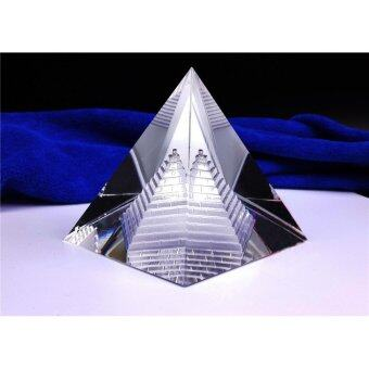 Harga 2 inch Crystal Pyramid Egypt Egyptian Clear Quartz Stone Home DeskDecor Gift - intl