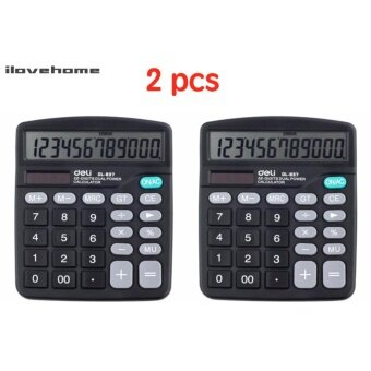 ต้องการขายด่วน (2 PCS) เครื่องคิดเลข 12 หลักสีดำ Deli 837ES