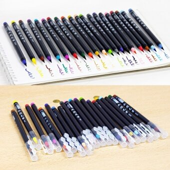 20 Colors Painting Brush Pen Set Soft Watercolor Copic Markers FineTip Design Brush For Manga Comic Calligraphy - intl