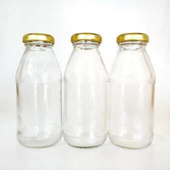 ขวดแก้ว ทรงสูง ฝาอลูมิเนียม ขนาด 200 มล. (Pack 3 ใบ)