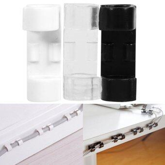 20pcs Wire Tidy Holder Cord Drop Clip Organizer Adhesive Cable Management Clamp (White) - intl