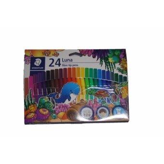 รีวิว ชุดปากกาสีเมจิ 24 สี STAEDTLER LUNA FIBRE TIP PENS