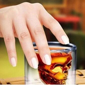 กะโหลกแก้วคริสตัลยิงหัวรูปถ้วยไวน์บาร์เหล้า และดื่มฉลองความโปร่งใส25 มล. - 4