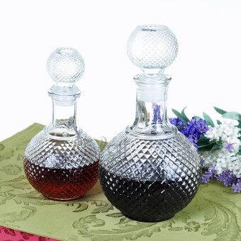 ประกาศขาย 250ML Vintage Crystal Vodka Shot Whiskey Red Wine Drinking Glass Bottle Decanter
