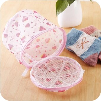 2pcs Clothes Washing Bags Bust Washing Bags For Washing Machine(Pink) - intl