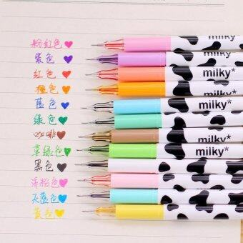 2PCS Novelty Cute Gel Ink Pen Refills Stationery School SuppliesWonderful Gift (MULTICOLOR) - intl