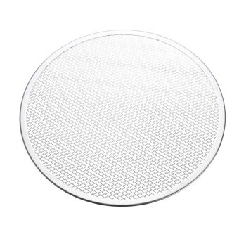 2pcs Seamless Rim Aluminium Mesh Pizza Screen Baking Tray Net Bakeware Cooking Tool 14'' - intl