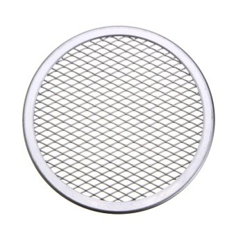 2pcs Seamless Rim Aluminium Mesh Pizza Screen Baking Tray Net Bakeware Cooking Tool 6'' - intl