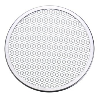 2pcs Seamless Rim Aluminium Mesh Pizza Screen Baking Tray Net Bakeware Cooking Tool 9'' - intl