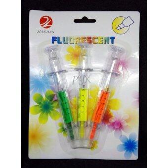 ปากกาไฮไลท์ ปากกาเน้นข้อความ ชุด 3 สี
