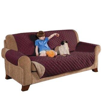 ต้องการขายด่วน 3 Seater Deluxe Quilted Cat Dog Sofa Cover Couch Slipcover WaterResistant Settee Armchair Mat Pet Furniture Chair Seat ProtectorCoffee - intl